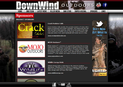 DownWind Outdoors Sponsor Page